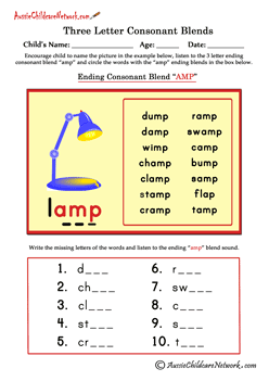 Letter Blends  Special Spelling    Consonant Blends