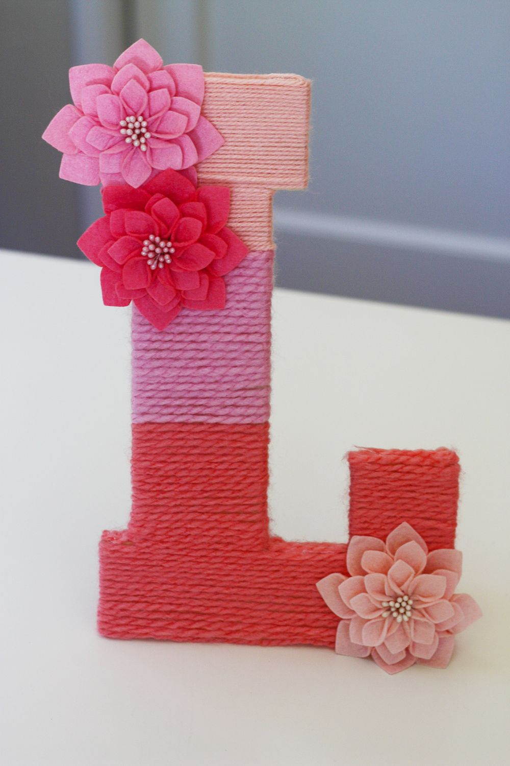 Make An Easy Yarn Wrapped Ombre Monogrammed Letter Crafty