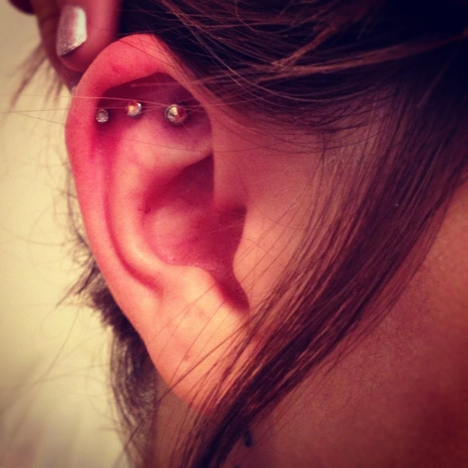 Piercing locations on body  peircing love three cartilage  tats and percings  Pinterest