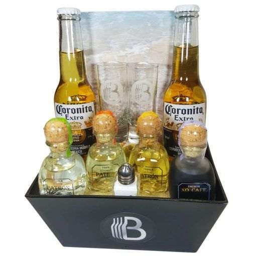 Impress your favorite tequila lover with this striking tequila gift basket! Awesome gift basket includes four bottles of high-end Patron tequilas.