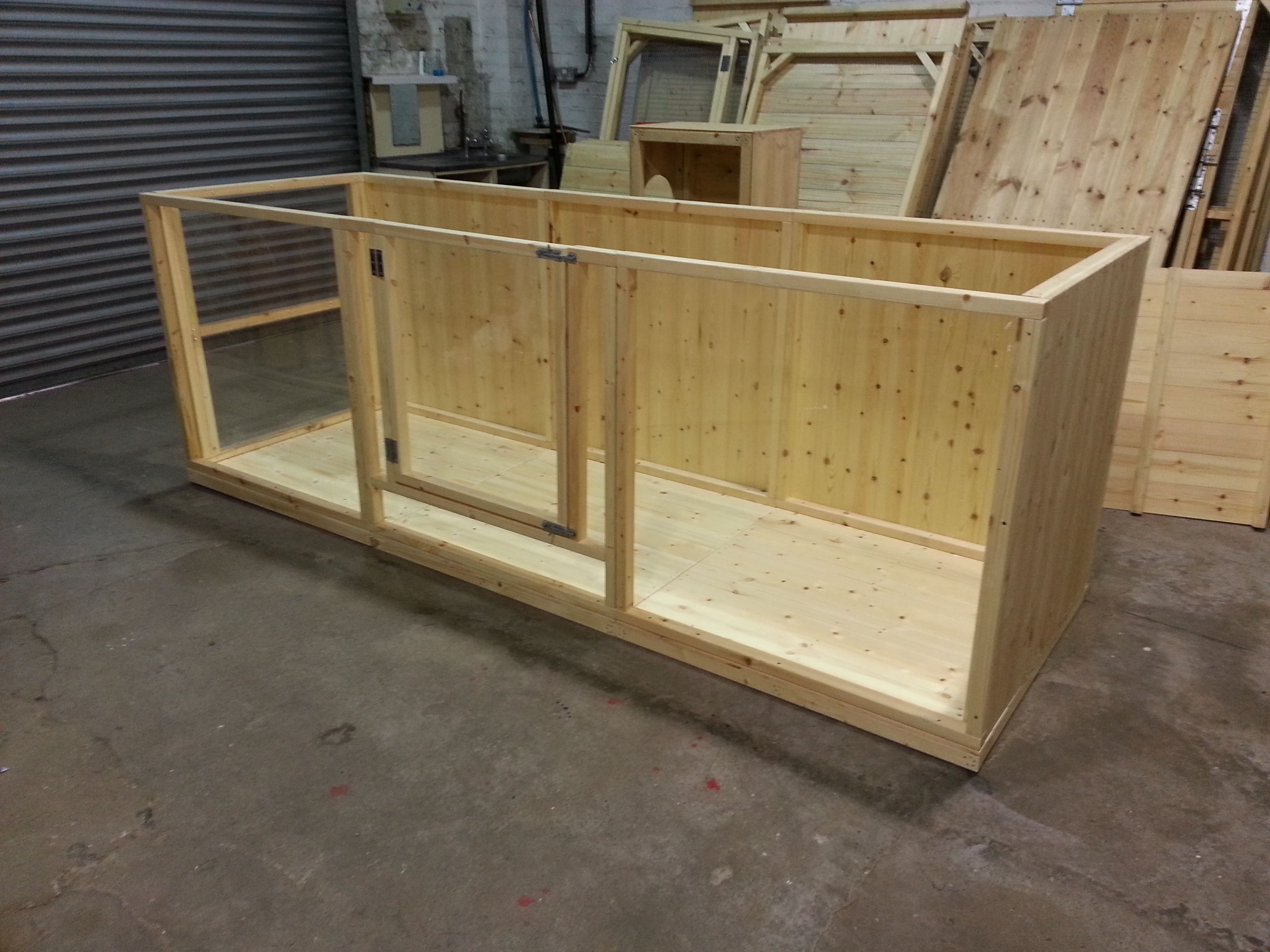 A large 3x1x1m rabbit pen made with full timber floor for Diy playpen for guinea pigs