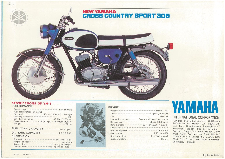 VINTAGE YAMAHA 1977 DT400 MOTORCYCLE BANNER