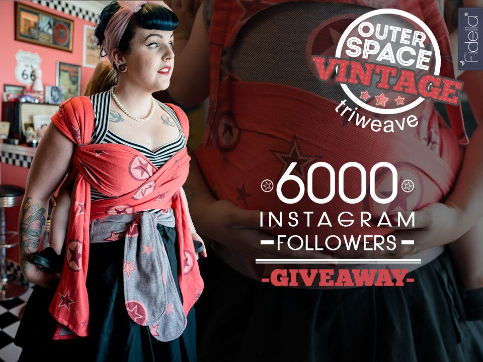 We celebrate 6000 Instagram followers and you can win one of our new Outer Space -vintage- babywraps. To Participate follow @fidellawraps on Instagram, repost our giveaway pic, and comment our post with what you connect with our new Outer Space -vintage- design and finish it with the hashtags #fidella #giveaway #babywearing #outerspace #vintage The closing date of participation will be November 1st 2015, 11.59 p.m. CET. https://instagram.com/p/9WhGZnpFxK/?taken-by=fidellawraps Good luck!