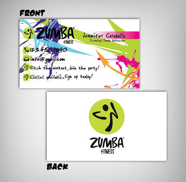 Zumba Business Cards Sample By Jpgdesigns Zumba Business Card Inspiration Zumba Workout