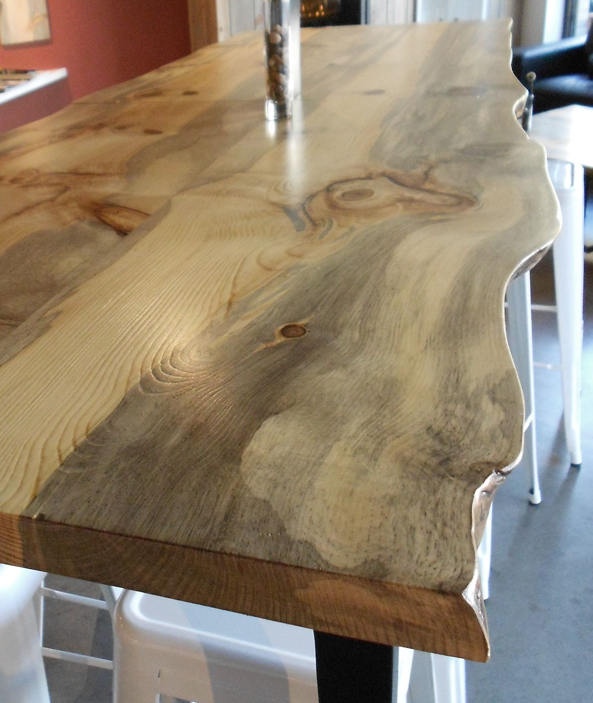 Western red cedar table top western red cedar live edge table top - Beetle Kill Pine Slab Table Top Supplied By Sustainable Lumber Co