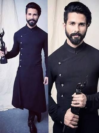 Image Result For Shahid Kapoor Quot And Quot Black Kurta Quot My In