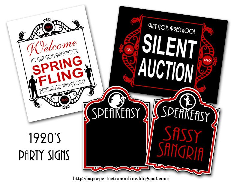 Sign Design Ideas Paper Perfection: Roaring Twenties (1920s) Party ...
