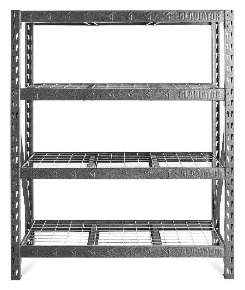 60 Inch Heavy Duty Rack Shelving In Hammered Granite Heavy Duty Racking Deep Shelves Rack