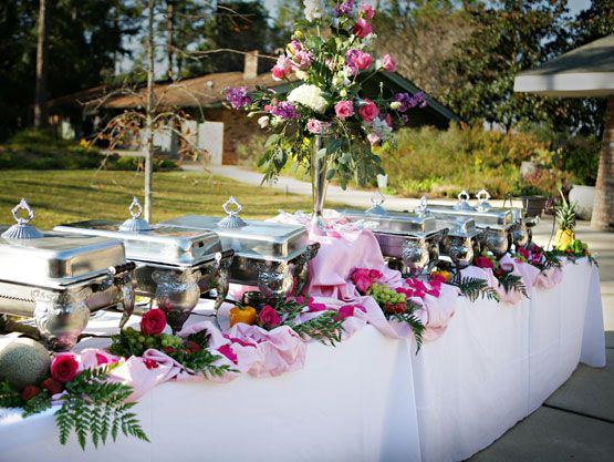 wedding buffet table pictures | Buffet is a French word that means ...