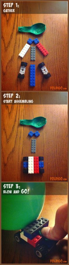 Balloon Powered Lego Car Crafts With My Kids Pinterest Lego