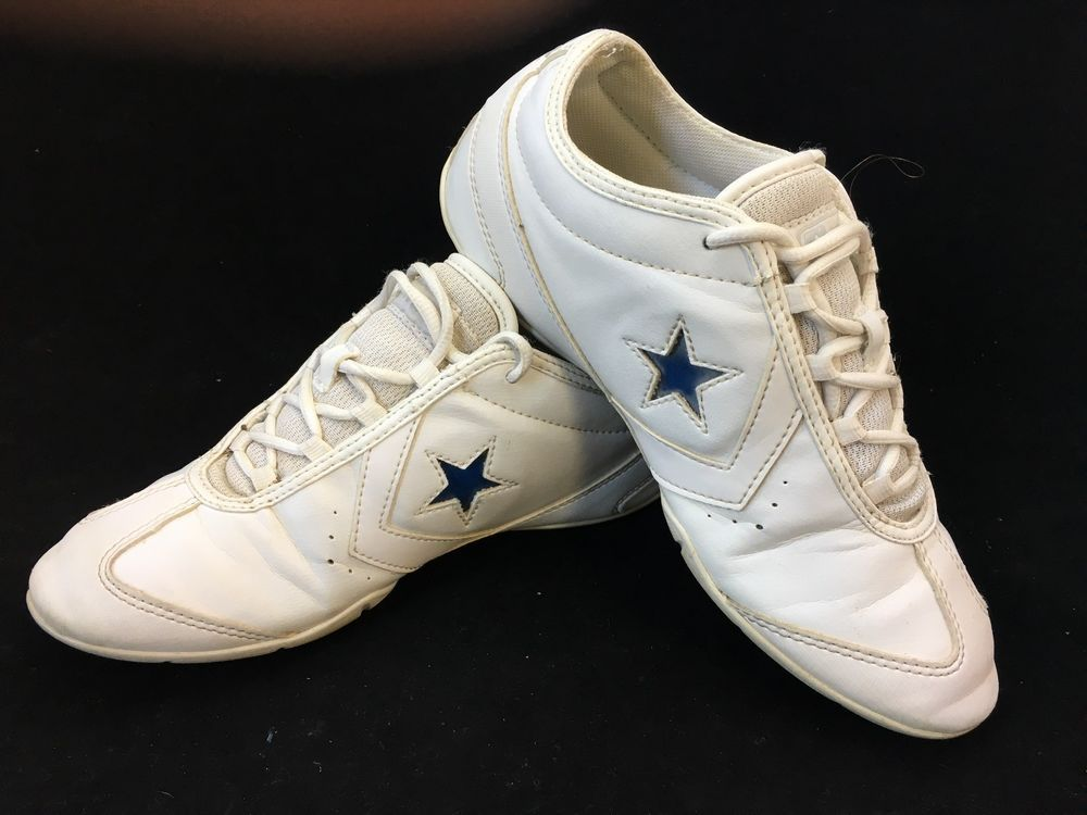 fdba79d2c23f Converse One Star Cheer Shoes Girls 7.5 Cheerleading Dance Team White Blue  Red  Converse  Cheerleading