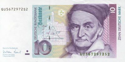 Carl Friedrich Gauss 10 Deutsch Marks 1991 Was Born In Germany In 1777 Many Enthusiasts Of Mathematical Hi Bank Notes Money Collection Carl Friedrich Gauss