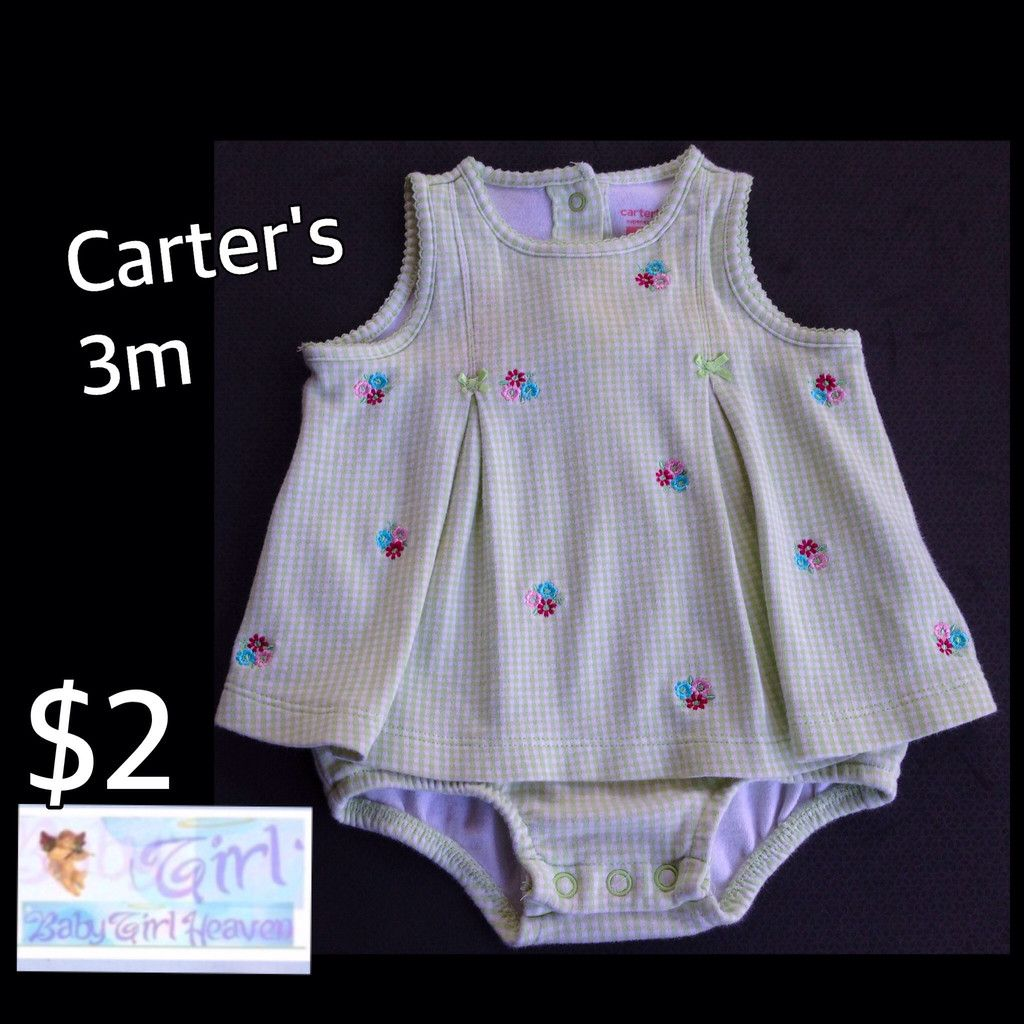 Carter's 3m Infant Girls Summer Onesie Dress $2