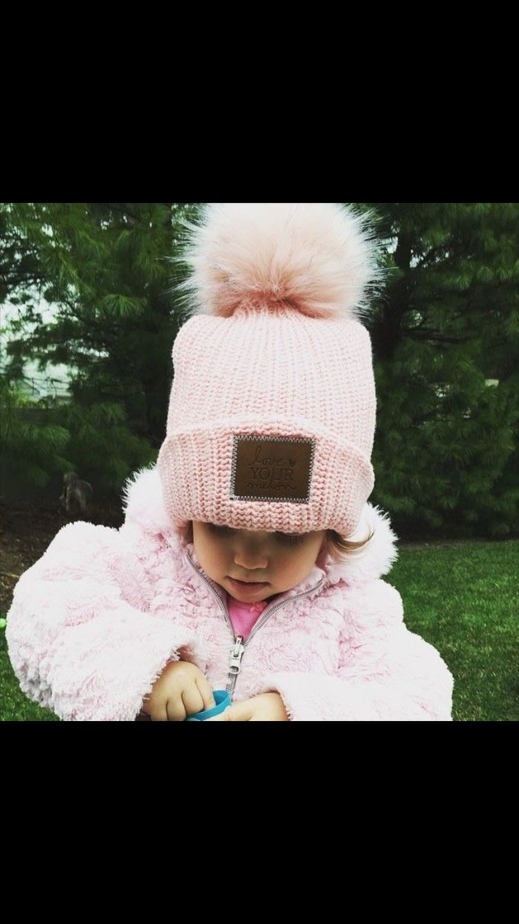 3fae943d5a7 Cute and perfect for Logan winters! Love your melon Pom Pom beanie. More