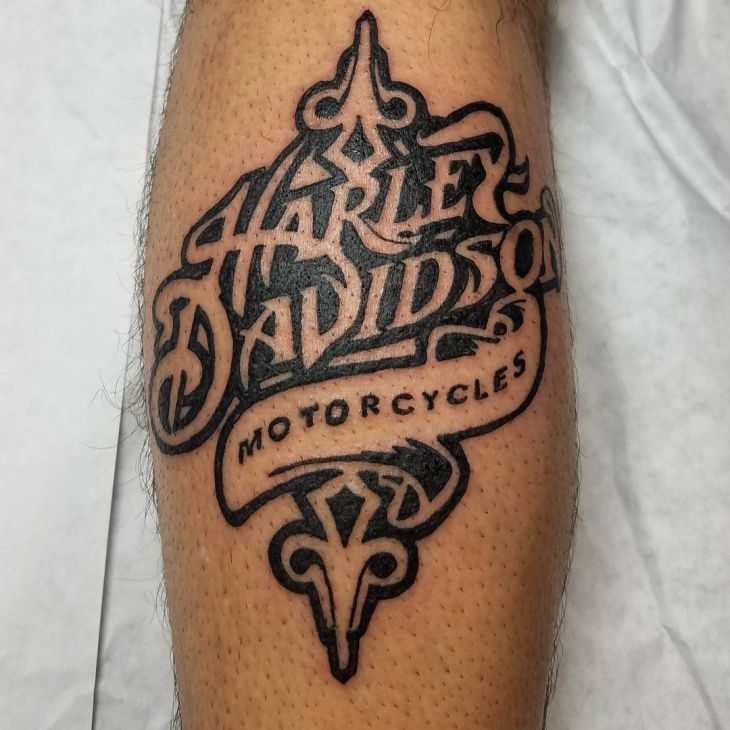 Harley Davidson Tattoo On Hand