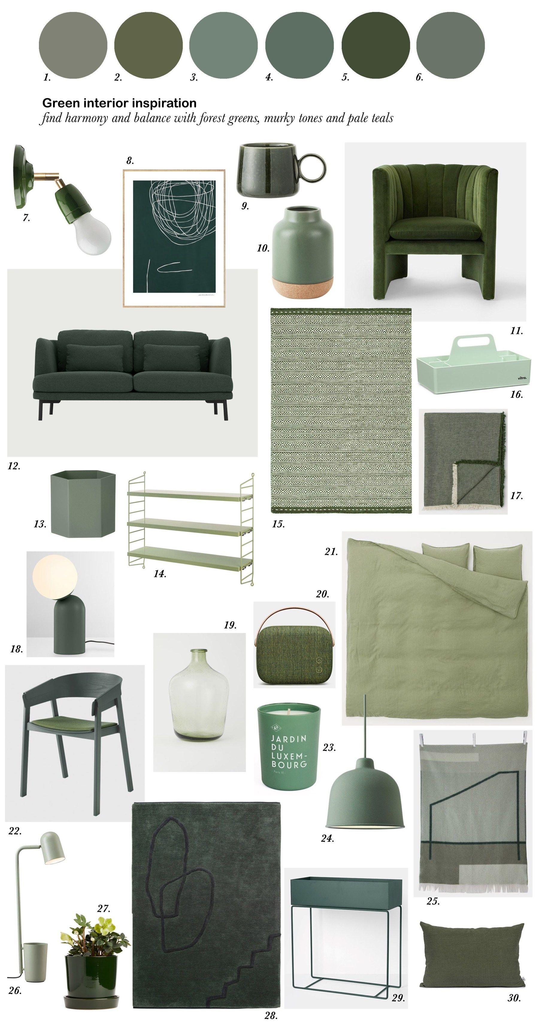 Colour Crush Green Interior Inspiration Catesthill Com Green Interiors Green Bedroom Colors Green Interior Design