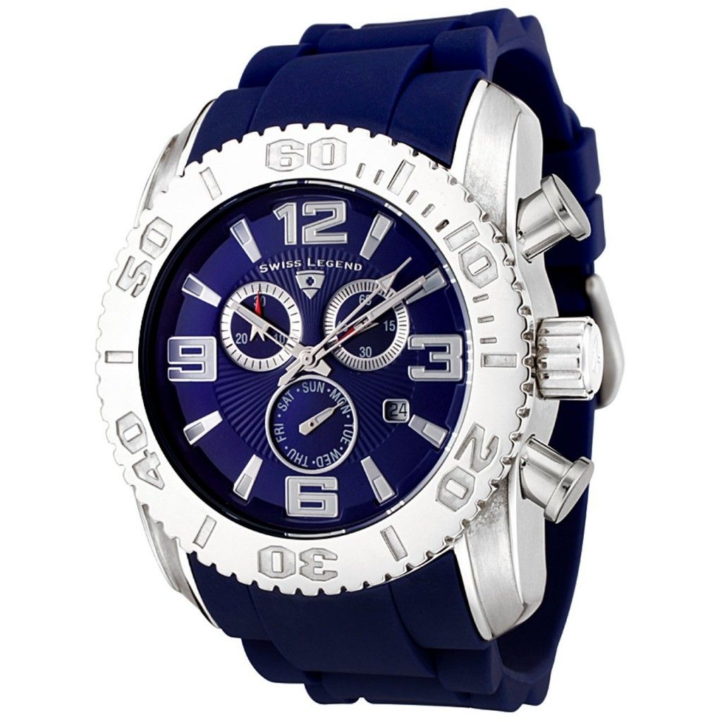 swiss legend men s 20067 03b commander collection chronograph blue swiss legend men s 20067 03b commander collection chronograph blue dial blue rubber watch · rubber watchesblack