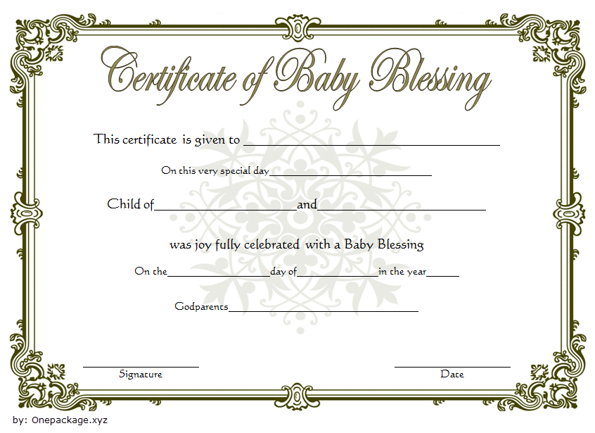 Free Baby Blessing Certificate Template 6 Baby Blessing Baby Dedication Certificate Free Baby Stuff