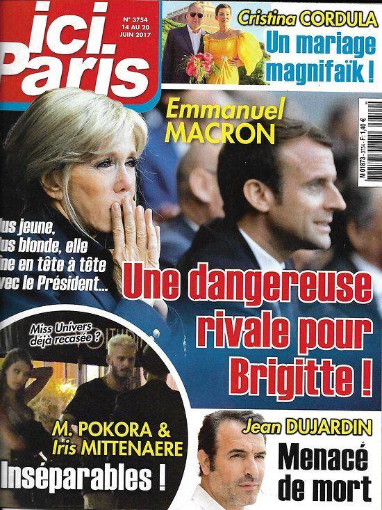 ICI PARIS n°3754 14/06/2017 Macron/ Dujardin/ Pokora
