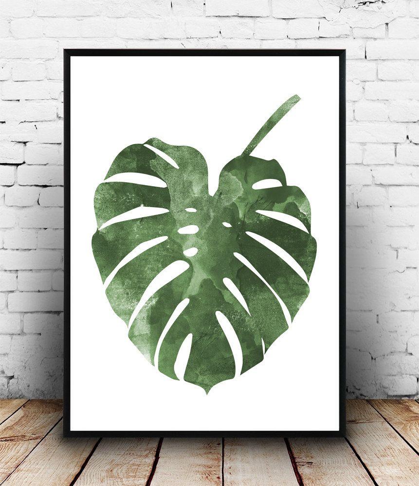 Cartel de Monstera arte botánico diseño nórdico boho chic | Art ...