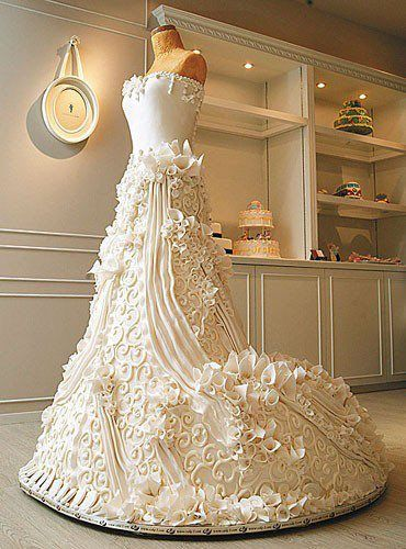 This is crazy - wedding dress CAKE!