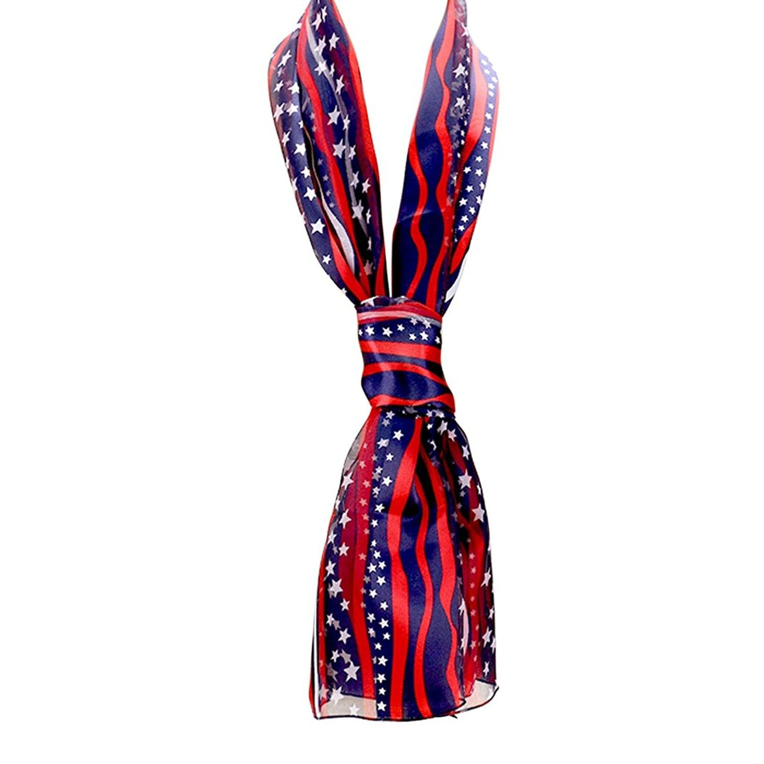 Women's American Flag Stars And Stripes Fashion Scarf
