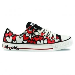 Fancy - CT AS Print Love Hearts OX - Chuck Taylor - Converse All Star - Alucinado