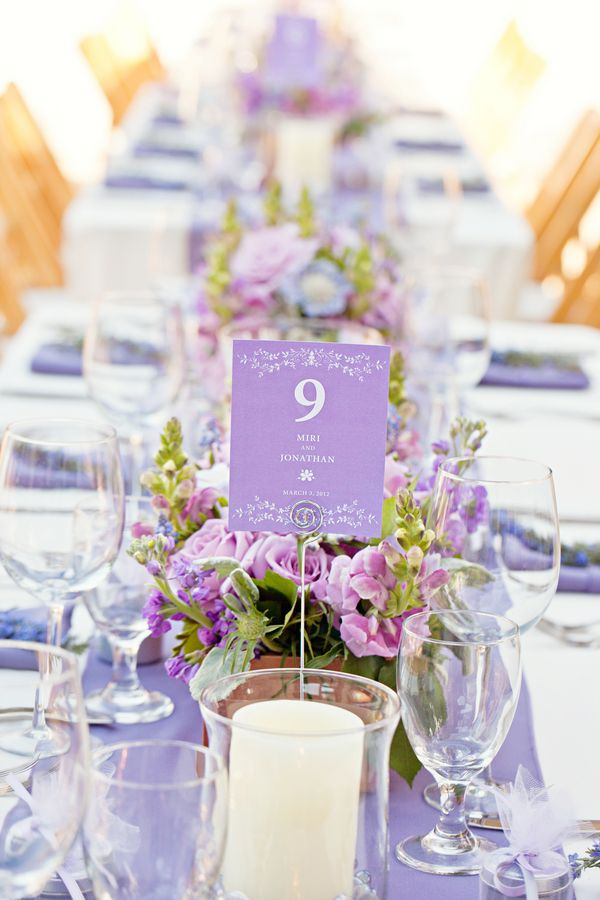 Classic Round Table Number Holder Lavender Wedding And Rounding
