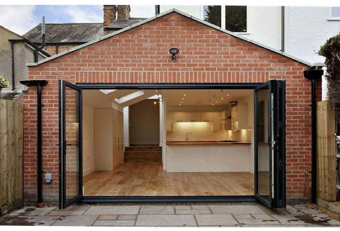 Rectory Road, Oxford. Part single part two storey rear extension to enlarge Kitchen / Family room. Bifolding doors, open vaulted dual pitched roof #gameroomdecorideastips #rearextension