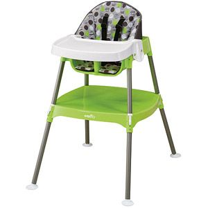 Evenflo Convertible High Chair Dottie Lime Walmart 38 Convertible High Chair High Chair Best High Chairs