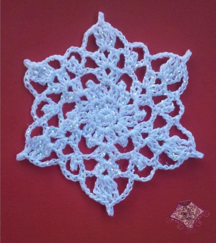 Free Crochet Snowflake Pattern Crochet Snowflakes Pinterest