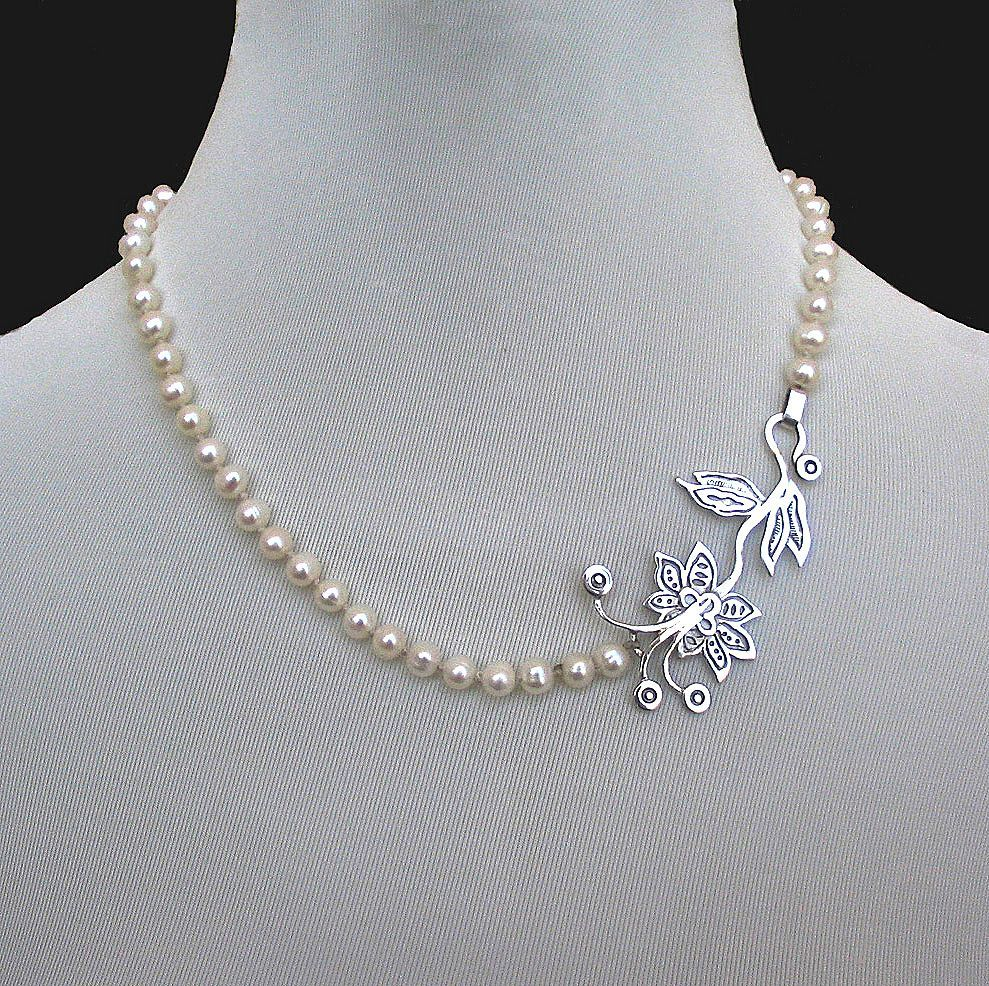 Romantic contemporary jewelry designer necklace of pearls and pearl necklace aloadofball Choice Image