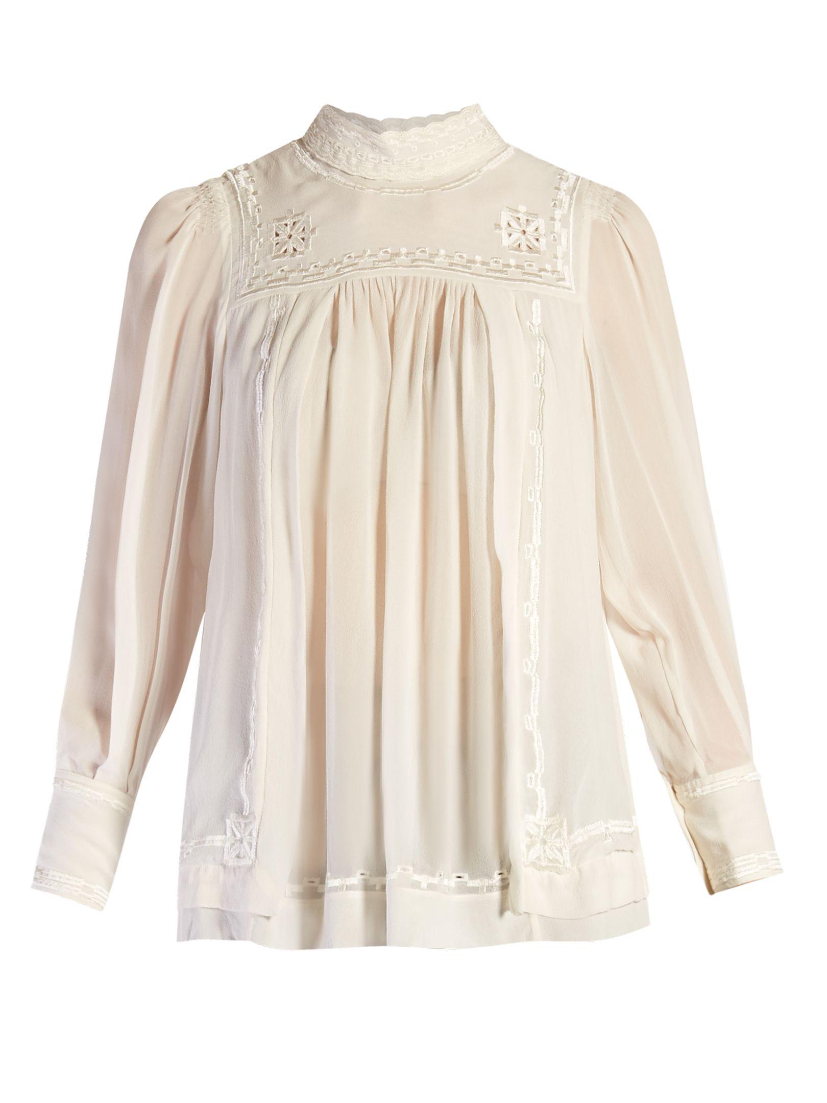Maeva high-neck embroidered blouse | Isabel Marant
