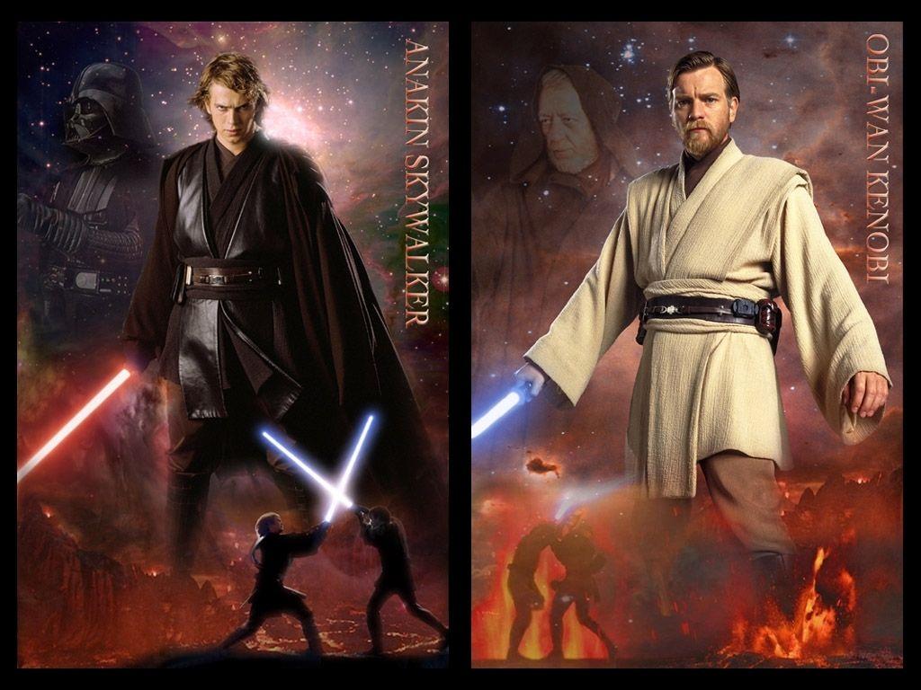 Anakin Vs Obi Wan Wallpaper Wallpapersafari Disney Star