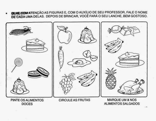 Resultado de imagem para ALIMENTOS SAUDAVEIS VS NAO SAUDAVEIS ATIVIDADES