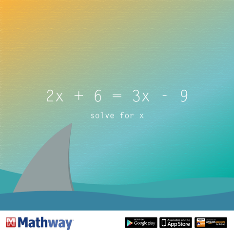 Can you solve for x? Check your answer using our website. | Higher ...