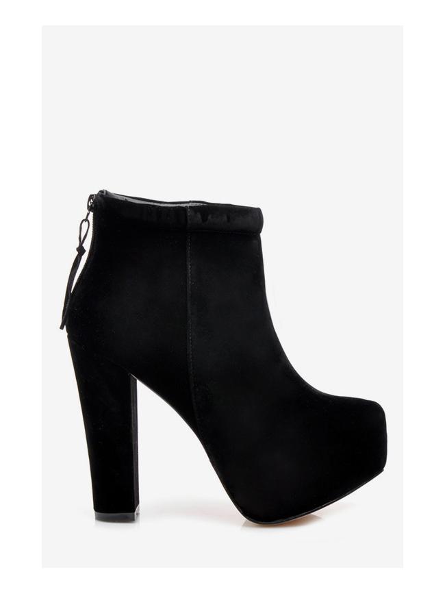 Botki Damskie Na Slupku Elie Czarne Sequin Pl Fashion Shoes Ankle Boot