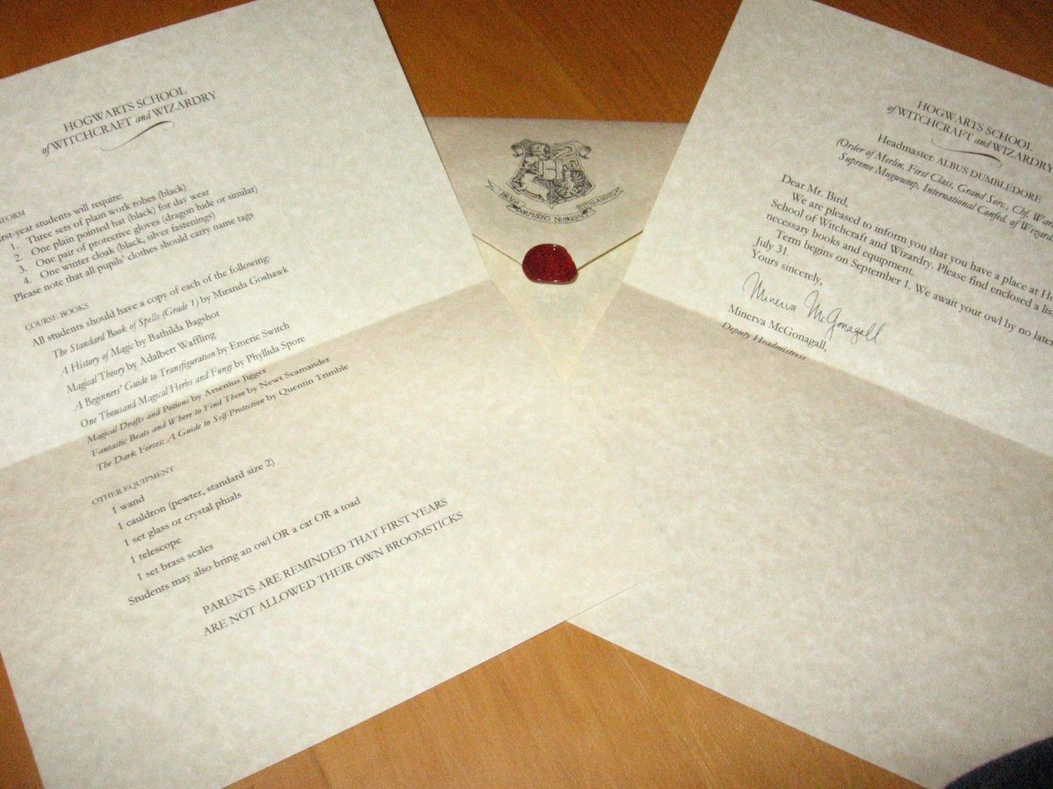 Receive My Hogwarts Acceptance Letter   Parts Of Me