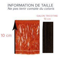 Ruban frange, frange tricotine, franche charlestone, vente frange a coudre - La Mercerie Chic