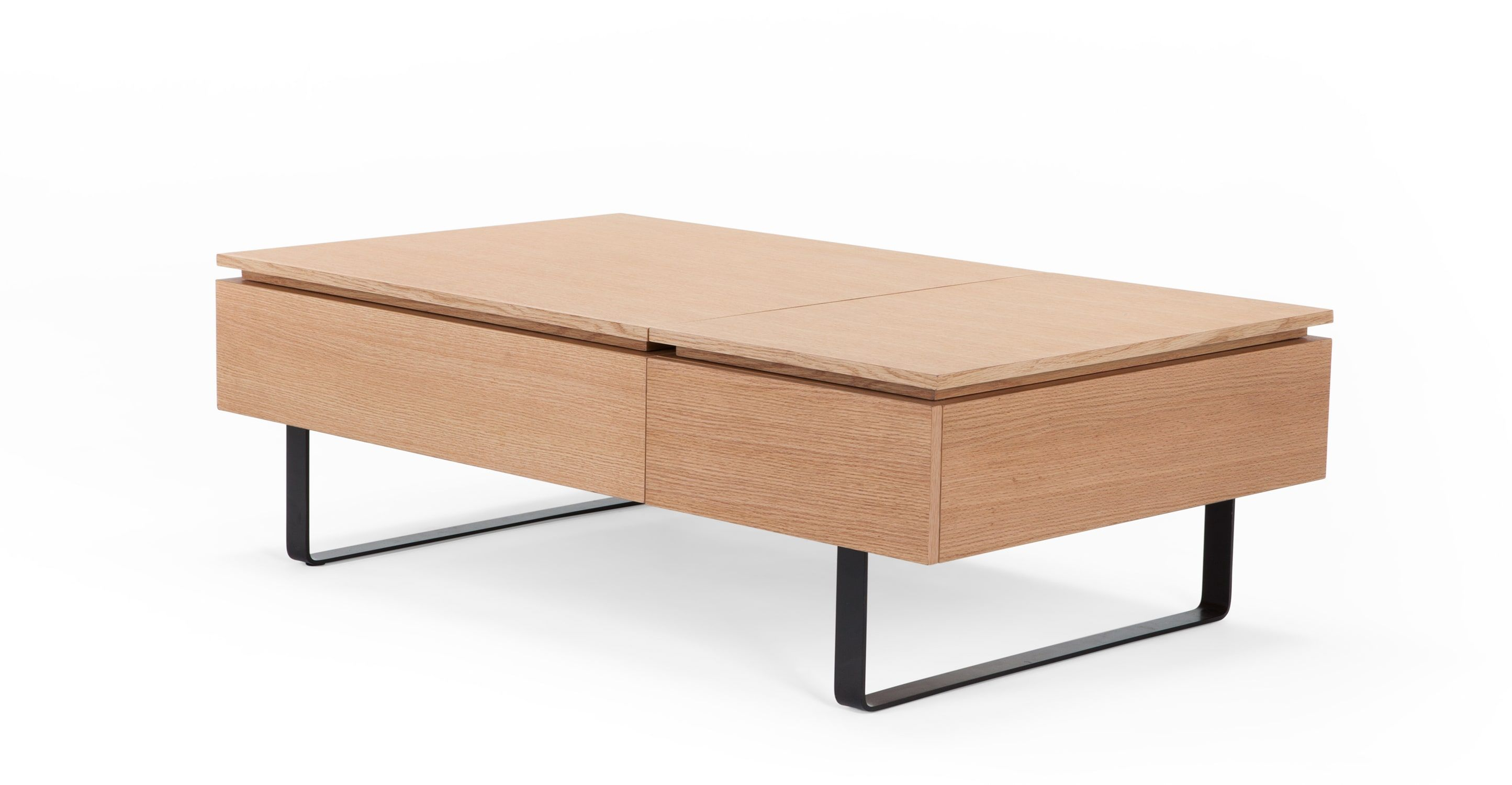 Flippa Functional Coffee Table with Storage Oak from Made