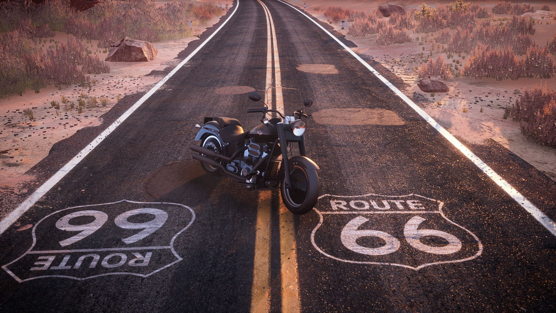 American Biker Rider Work Shirt Route 66 Shirt Highway Motorcycle