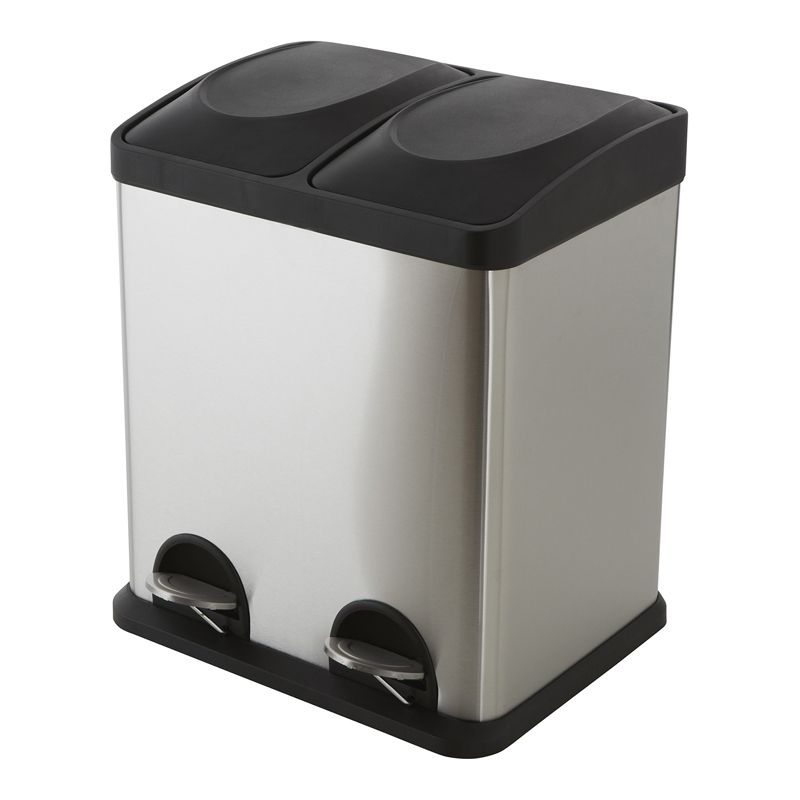 Morgan Stainless Steel Twin Compartment Pedal Bin Bunnings Options For Further Sorting Of Rubbish