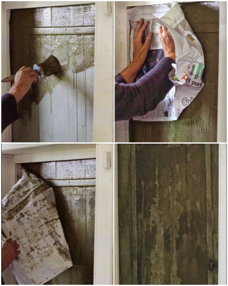 technique-peinture-idées-porte-bois casa Pinterest Chalk paint