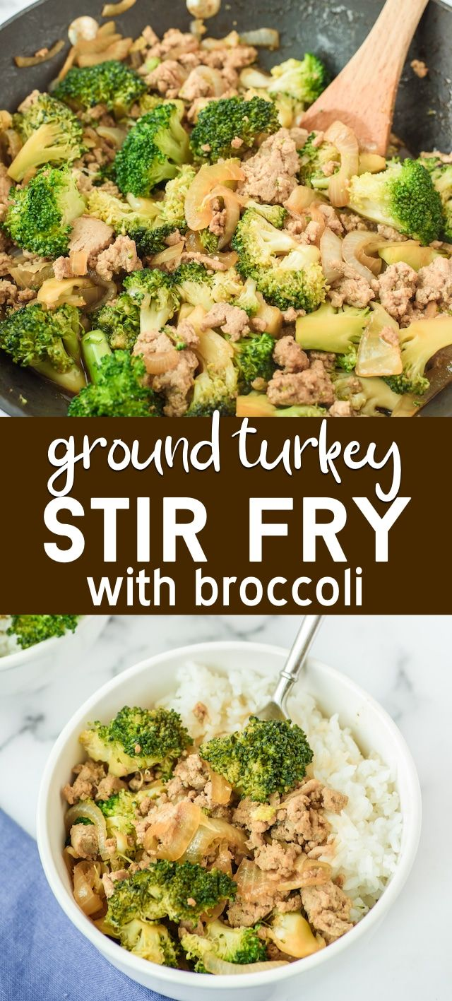 Make a Ground Turkey Stir Fry with broccoli for your next weeknight meal! Make homemade takeout Chinese with ground turkey. Stir fry is such an easy dinner - it's a 30 minute meal even picky eaters love.