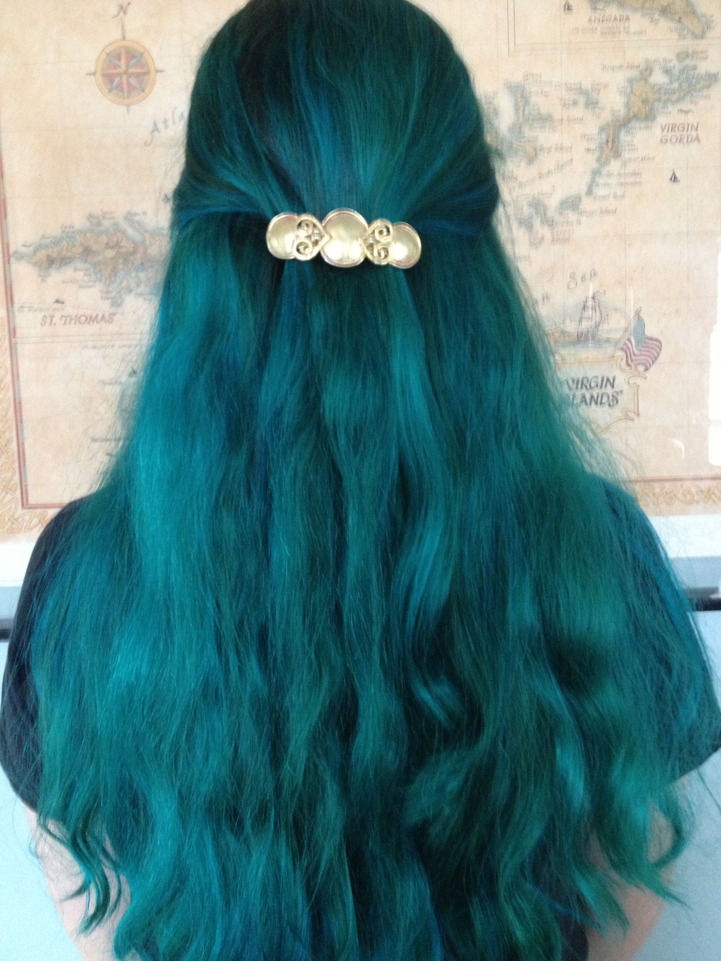 Like My Hair I Used Manic Panic Voodoo Blue Hair Color Dark