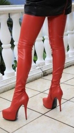 Red thigh boots  Kinkythighhighboots  3204a97d245
