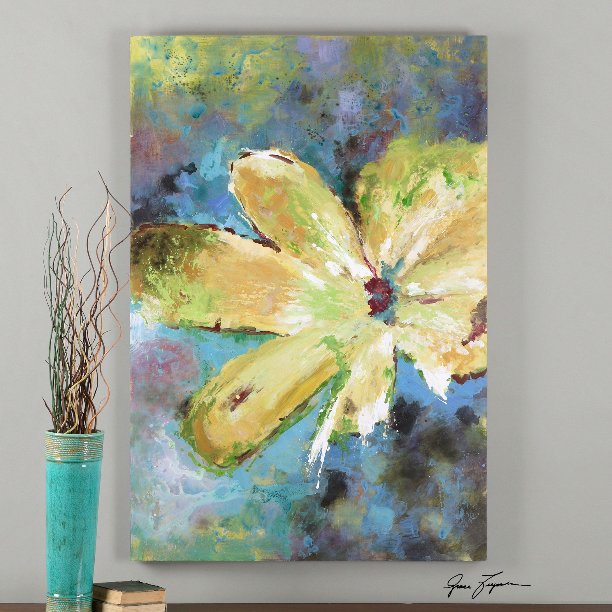 Uttermost Blossom in Yellow Hand Painted Art | Art | Pinterest ...