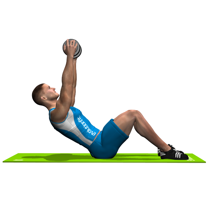 DUMBBELL SIT UP INVOLVED MUSCLES DURING THE TRAINING ABDOMINALS ...