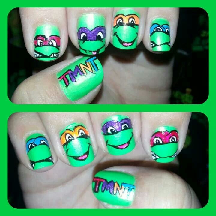 My teenage mutant ninja turtle nails. | Nails | Pinterest | Ninja ...