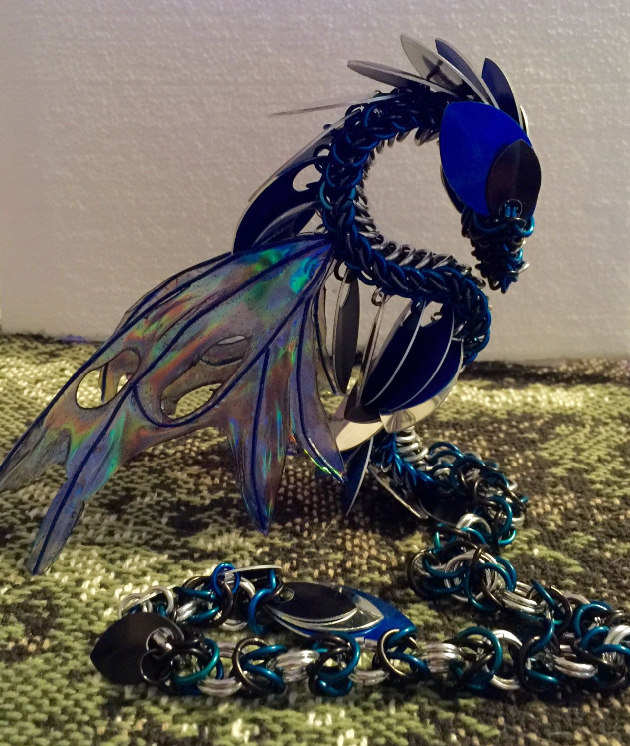 Arygos the Chainmaille Dragon by jinxmeow94 on Etsy ... - photo#8
